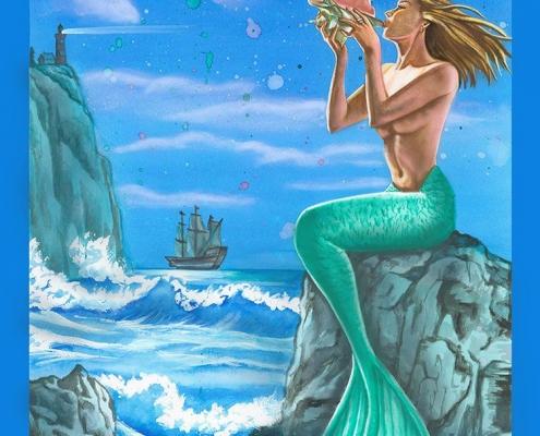 """Création de l'illustration """"Le chant d'une sirène"""""""