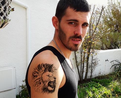 Illustration d'un lion pour un tatouage