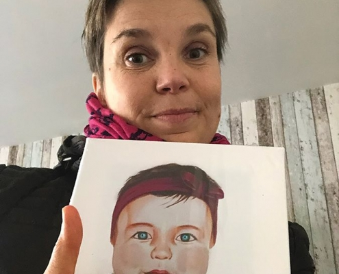 """Création du portrait de la petite """"Candice"""""""